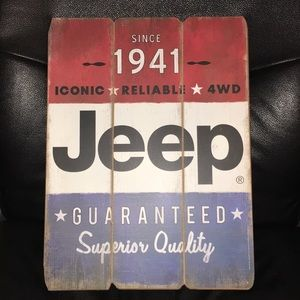 New Jeep Wood Plank Sign